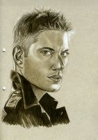 Sketch: Dean Winchester by theresebees