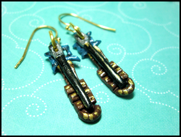 Terra Keyblade Earrings by GrandmaThunderpants