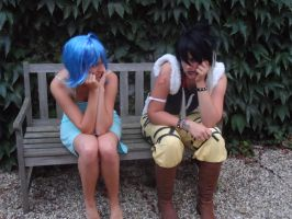 Juvia and Midnight cosplay by IreneMarleenAyuma