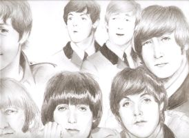 The Beatles by Drawingincoma