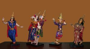 Temple Dancers from Thailand by Rachelevans1013