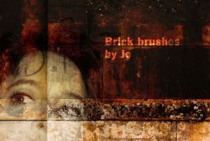 Grunge Brick Phtotshop Brushes by gojol23