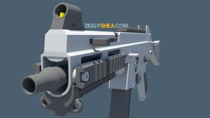 HK UMP 45 high-poly by 3DFunkee
