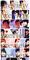 Jiyoon and SNSD icons: preview by BlackLegSarah