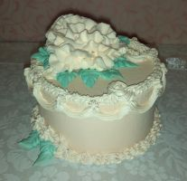 Antique Rose Cake Box by ninja2of8
