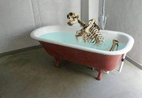 Skeleton in a Bathtub by derkert