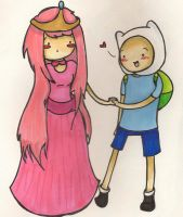AT-Finn and Princess Bubblegum by bearinacave