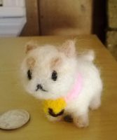 Needle Felted Puppycat by superpsyduck
