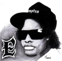 Easy-E caricature by Spomo-U