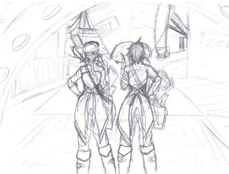 Tennera and Vuelo at the Docks by vanna6yaoiheaven