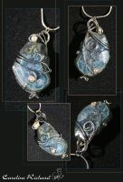 Deep Space Blue Pendant by CaroRichard