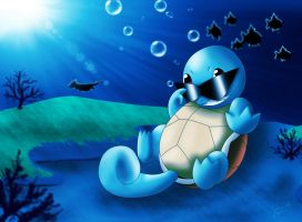 Squirtle's Swim by SadowWolfKACT
