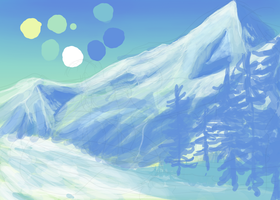 Mountains call WIP by CyanLights