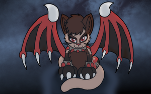Art Trade: On Wings of the Night by FaithLeafCat