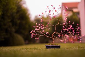 Origami and copper wire cherry tree by GorgiusGo
