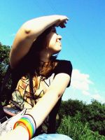 Rainbow on the hand by Mary-Alice29