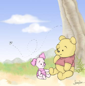 Winnie and Piglet by warmhearted