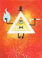 Bill Cipher by MadCalanchoe