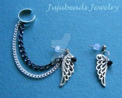 Angel Wing Swarovski Ear Cuff by Julix04