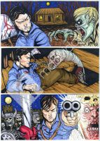 Evil dead sketch cards puzzles commission by mdavidct