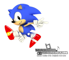 Classic Sonic Adventure Pose 3D Render by marvinvalentin07