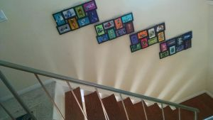 Fused glass over stairs by Dala1954