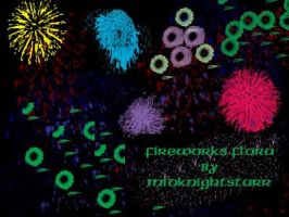 Fireworks Flora Brushes by MidknightStarr