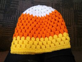 candy corn cluster slouch hat by KlinsCrafts