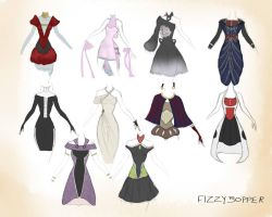 Mass Effect Dress Dump. by Fizzybopper