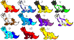 Free adoptables!!! (Closed) by Obsidianthewolf
