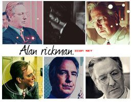 Alan Rickman. Icon set by MarySeverus