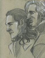 Loki and Fandral by AmberPalette