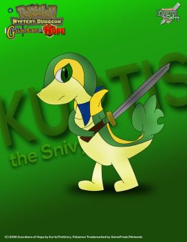 Kurtis The Snivy (PMD: Guardians of Hope Poster) by MickeyMario64