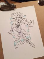 Supergirl inktober by BillWalko