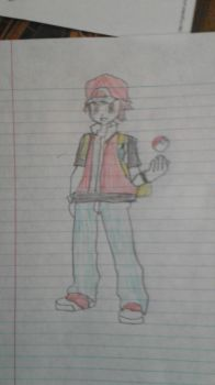 My Drawing of Red(Pokemon) by Pikachuisawesome60