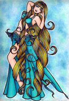 Aquarius Belly Dancer by LaceChenault