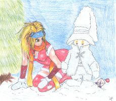 Rikku and Vivi Christmas by TheLandoBros