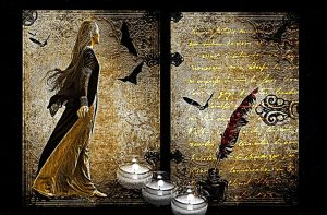 Bats Books and Candles by rustymermaid