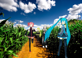 Walking Through the Cornfield Trails.. by HappyMMDer