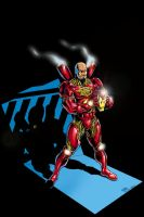 Iron Man again in COLOR by billmeiggs