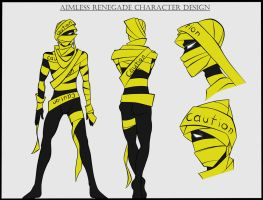 Aimless Renegade character design by LeijonNepeta
