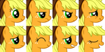 MLP Emotion set Applejack by NeoBolt
