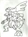 Zekrom Sketch by CoolMan666