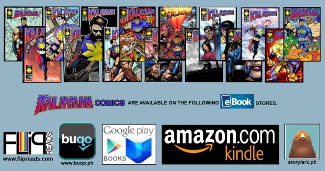 Kalayaan comics on eBook stores by gioparedes