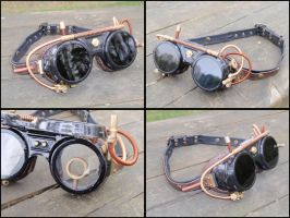 Steampunk Goggles #3 by LeatherCraft