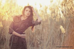 Beautiful lady posing in nature by GabiGeorgescu