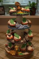 African Safari Babyshower Cupcakes by lenslady