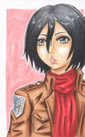 Mikasa Ackerman - Attack on Titan by SpazztasticFanGirl