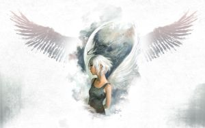 Grungy White Angel by TheFatalError