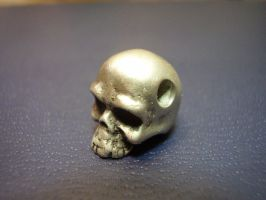 Sterling Skull Bead by whiskey1973